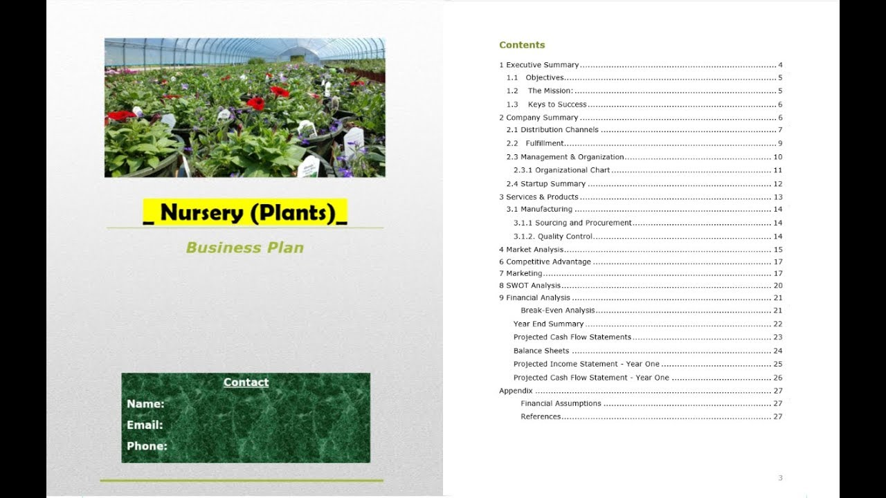 Plant nursery business plan template youtube plant nursery business plan template accmission Gallery