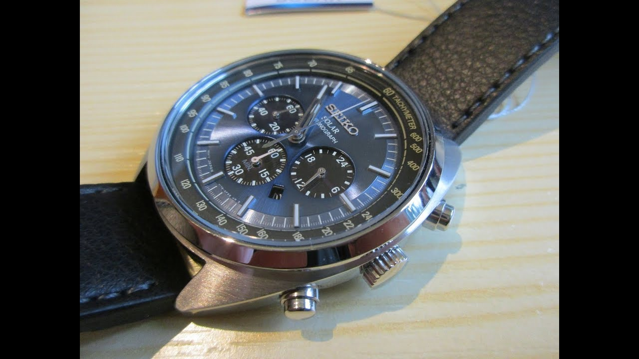 separation shoes fe154 641c8 Seiko Solar Chronograph Watch SSC625P1 - Unboxing video - Bought from the  USA