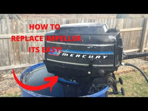 HOW TO Replace Impeller (Water Pump) Mercury Outboard 7.5 hp