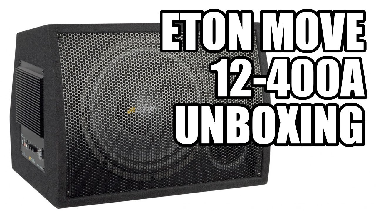 Subwoofer Eton Move 12-400A Unboxing & Fitting - YouTube