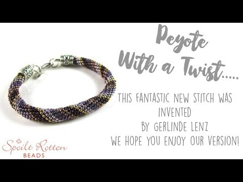 Peyote with a Twist....it's not crochet!