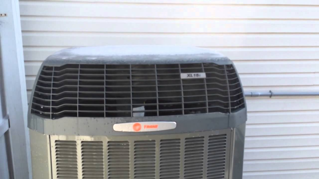 2012 Trane Xl15i Heat Pump Defrost Cycle Steam Show