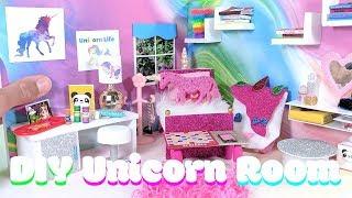 DIY Miniature Unicorn Dollhouse Bedroom