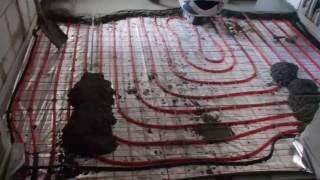 Заливка теплого пола бетоном.(Заливка теплого пола бетоном., 2016-07-17T12:32:14.000Z)