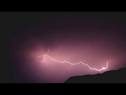 Slow Motion Time-Lapse of Crazy Lightning, Mutare, Zimbabwe.