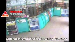 Sujeto roba en farmacia cruz verde de san felipe