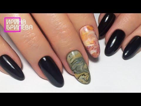 Красивый маникюр гель лаком 💅 Дизайн ногтей Срез камня