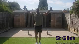 Daily dose of Joe. 12 min follow along Light resistance home workout routine