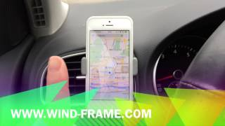 Windframe UNIVERSAL IN CAR MOBILE PHONE SAT NAV PDA GPS HOLDER WITH LOCKING CLIP MOUNT