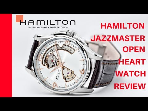 (4K) HAMILTON JAZZMASTER OPEN HEART MEN'S WATCH REVIEW MODEL: H32565555