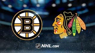 Khudobin's 41 saves lift Bruins past Blackhawks, 3-2