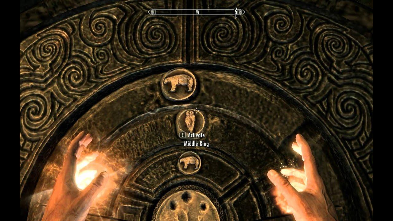 & Skyrim - How to Open the Golden Claw Door - YouTube