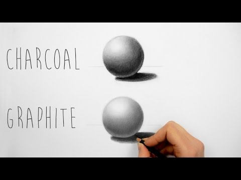 Best way to practice shading with charcoal and graphite pencils - Draw a sphere