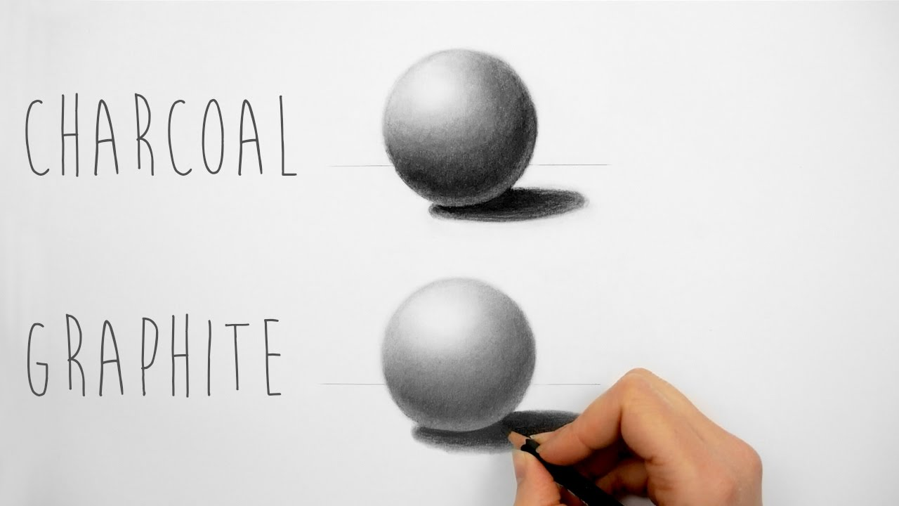 Best way to practice shading with charcoal and graphite pencils draw a sphere