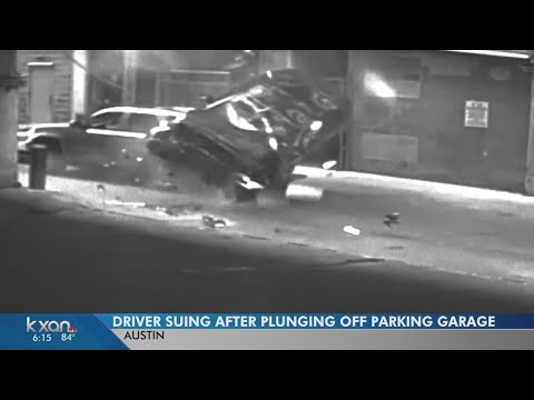 $1M lawsuit after car plunges from parking garage