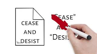 What to do upon receiving a cease and desist letter