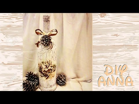 christmas-decoupage-vintage-bottle-diy-shabby-chic-ideas-decorations-craft-tutorial-/-uradi-sam