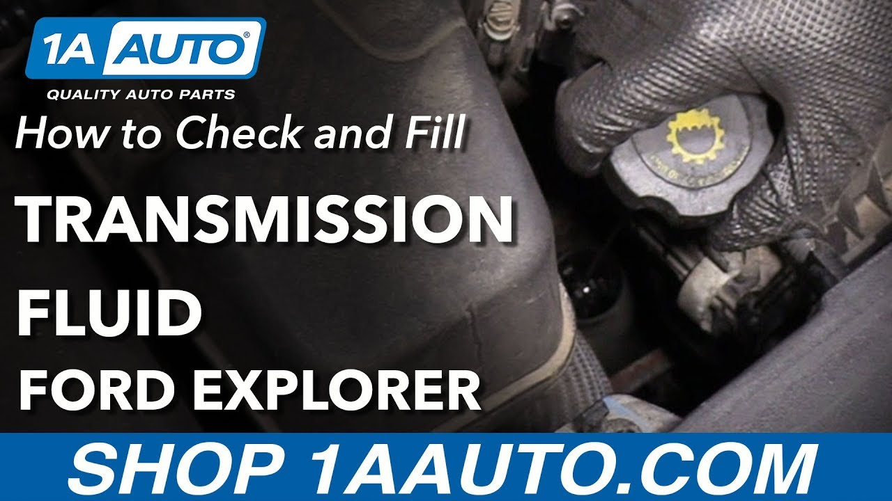 How to Check Transmission Fluid 11-19 Ford Explorer