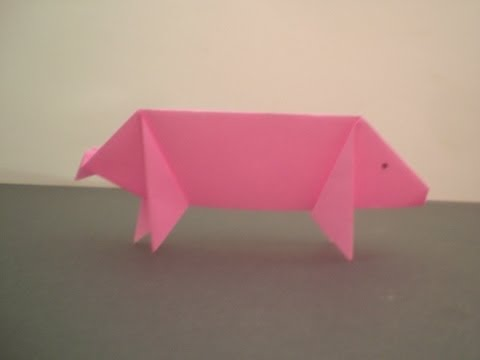 Origami Pig - YouTube - photo#22