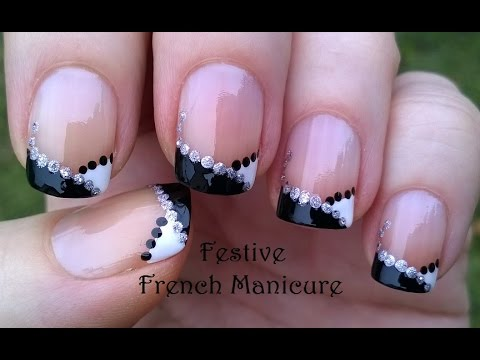 Festive FRENCH MANICURE Nail Art
