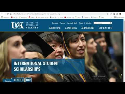 BOURSE ETATS UNIS - Université Nebraska [ 1ere Partie]
