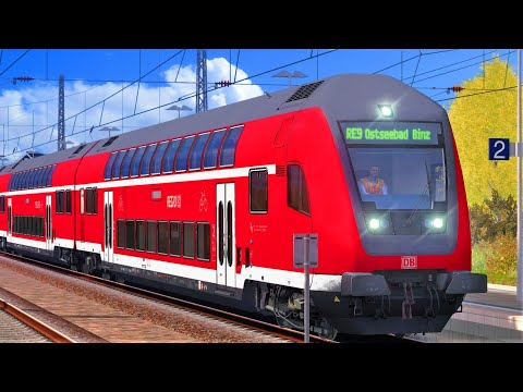 INSELBAHN Rügen: Stralsund - Sassnitz | TRAIN SIMULATOR 2019 | BR 143 + RE nach Ostseebad Binz |