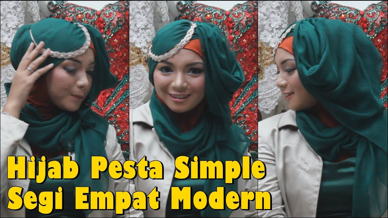 Hijab Pesta Simple Segi Empat Modern By Revi YouTube