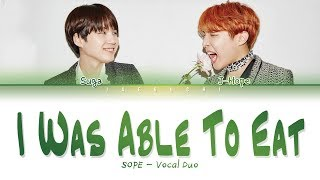 SOPE (SUGA & J-HOPE) - I Was Able To Eat Well (밥만 잘 먹더라) (Color Coded Lyrics Eng/Rom/Han/가사)