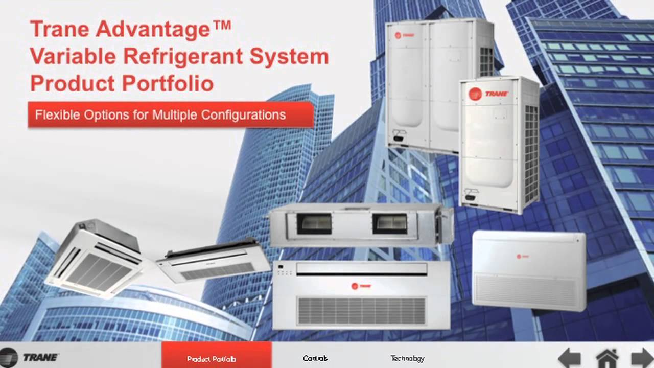 Trane 174 Advantage Vrf Variable Refrigerant Systems At Ahr