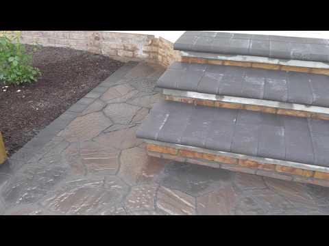 Belgard Mega Arbel concrete patio & steps overlay on Gettysburg Adams County - Ryan's Landscaping
