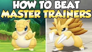 How To Beat Sandshrew & Sandslash Master Trainers Guide!