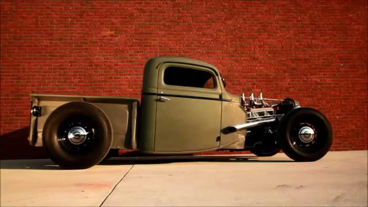 1935 Chopped Ford Pickup Truck, Traditional Hot Rod Burn Out HAMB ...