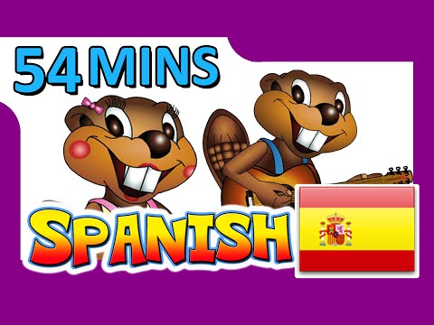 """Spanish Level 1 DVD"" - 54 Minutes, Learn to Speak Español, Easy Spanish Lessons, Kids School"
