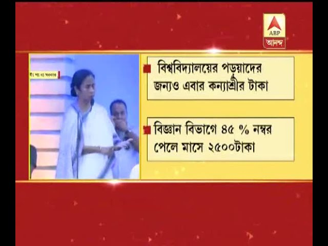 """Now """"Kanyashree Project"""" will be in the Colleges and Universities also,  CM Mamata Ban"""