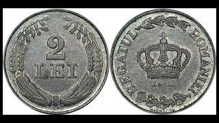 Монеты из цинка Coin 2 LEI 1941 REGATUL ROMANIEI MIHAI I / 2 леи Румыния Нумизматика