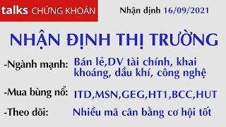 Nhận định thị trường  Nhận định thị trường Chứng khoán hôm nay 16/09: Kiếm tiền? MSN, ITD, GEG, HT1