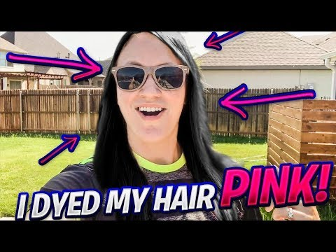 I DYED MY HAIR PINK .....