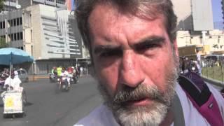 Con Roland Denis desde la Plaza Venezuela, aporrea tvi, febrero 2014