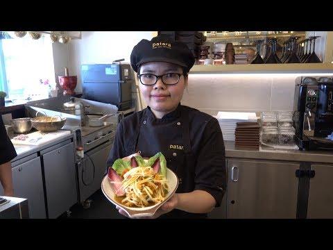 Thai-Style Big Salad. Prepared and Tasted in London. Patara Thai Restaurant, Wimbledon