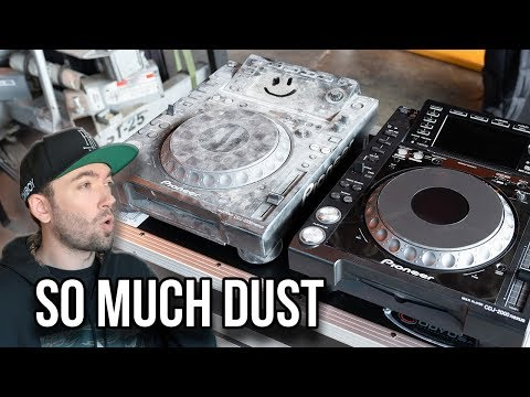 Cleaning my CDJs from Burning Man - WOW