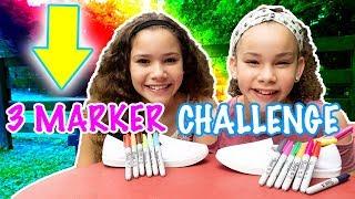 3 Marker Challenge!! DIY Tie Dye Shoes