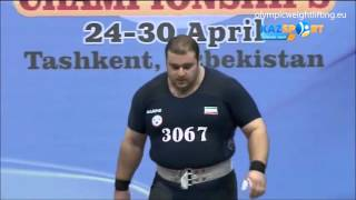 2016 Asian and European Weightlifting Best Lifts, Men +105 kg