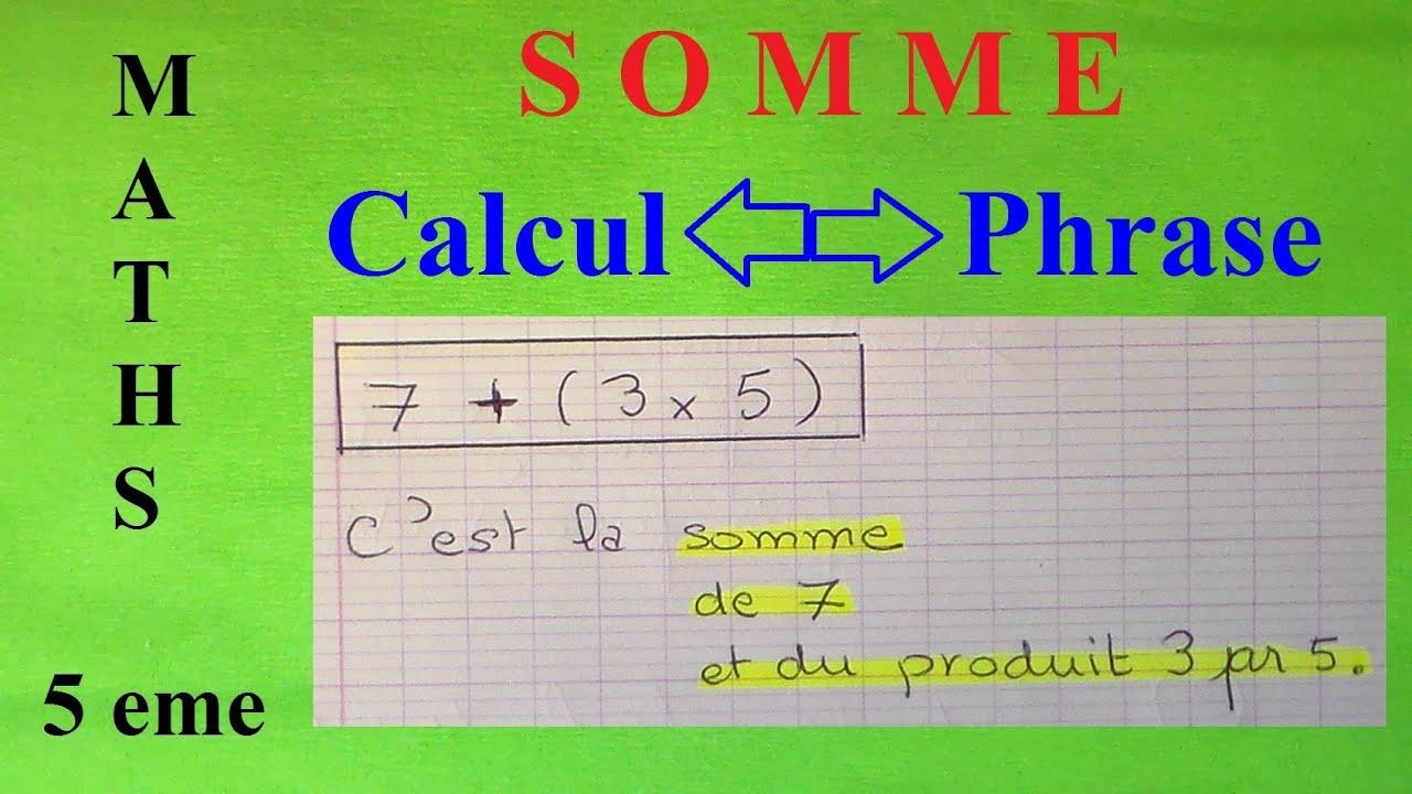 expliquer une démarche 5ème Mathématiques