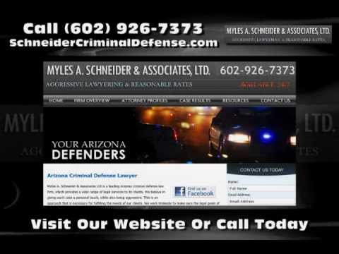 Myles A. Schneider and Associates Ltd is a leading Arizona criminal defense law firm, which provides a wide range of legal services to its clients. We work tirelessly to make...