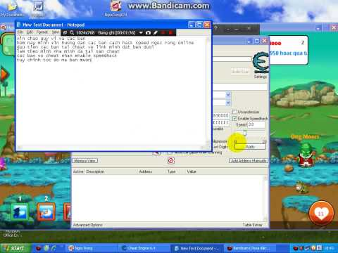 hack speed ngoc rong online pc - cach hack speed ngoc rong online