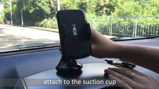 EEEKit Wireless Charger Car Windshield/Dashboard Mount Review for Galaxy S7 Edge