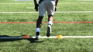 Cornerback drills: slant/45-degree breaks
