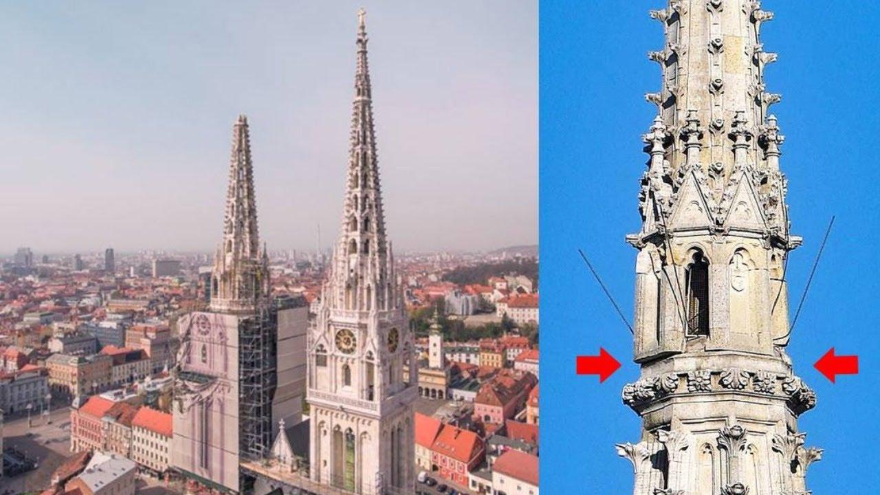 Zagrebacka Katedrala Uklanjanje Tornja Youtube