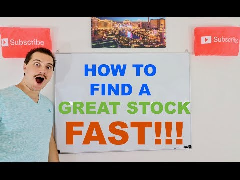 How to Find a Great Stock in 99 Minutes!