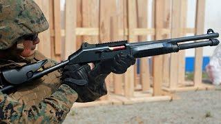 ショットガン(散弾銃)・ベネリM4(M1014) 射撃訓練 - Shotgun Benelli M4 (M1014) Live Fire